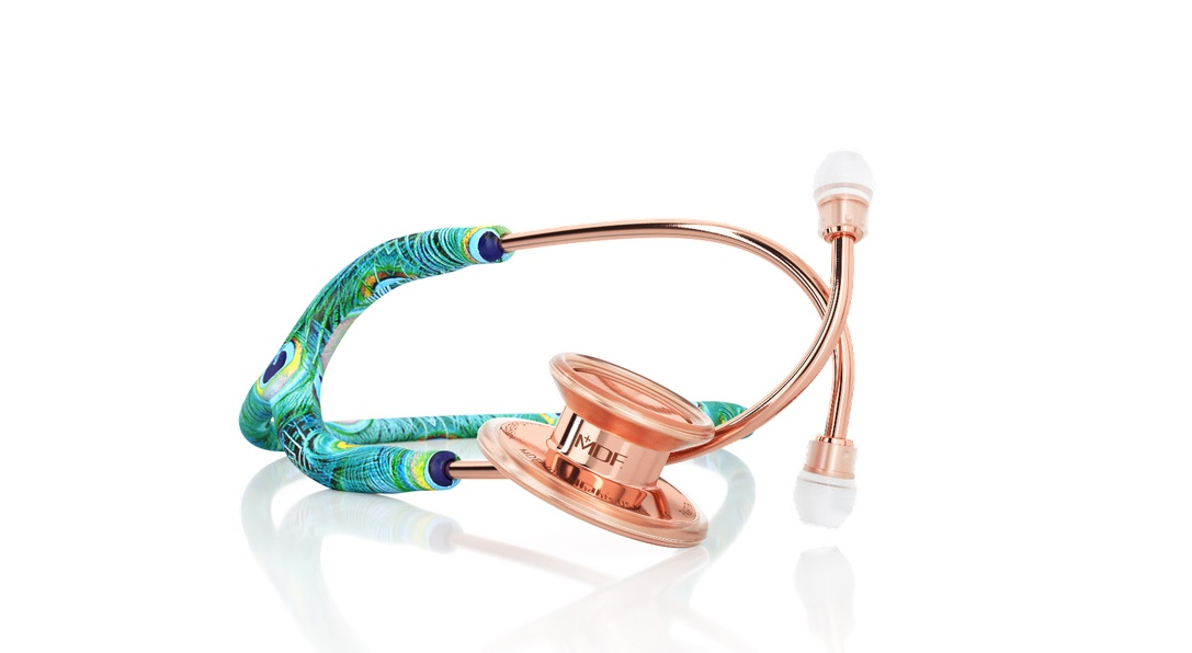 MDF 777 MD One® Peacock Rose Gold Stethoscope - Limited Edition MPrint